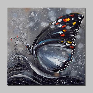 お買い得  壁飾り-ハング塗装油絵 手描きの - ポップアート リアリズム 近代の 内枠を含めます / ストレッチキャンバス