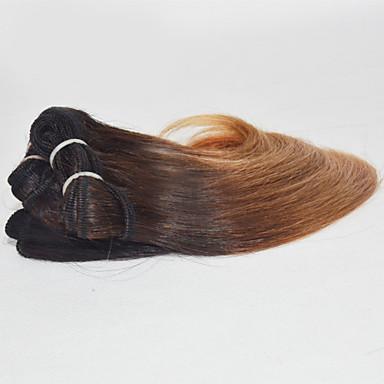 Brazilian Hair Body Wave / Classic Virgin Human Hair Ombre Hair Weaves 3 Bundles 8 inch Human Hair Weaves Strawberry Blonde Human Hair Extensions
