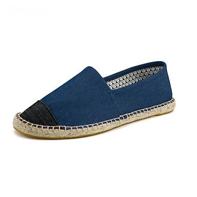 Homens sapatos Algodão Lona Verão Outono Solados com Luzes Alpargata Mocassim Mocassins e Slip-Ons Elástico Combinação para Casual