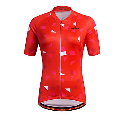 Miloto Mujer Manga Corta Maillot de Ciclismo Rayas Clásico Tallas Grandes Bicicleta Camisas Sudadera Camiseta / Maillot, Transpirable Secado rápido Bandas Reflectantes 100% Poliéster / Elástico