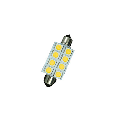 SO.K 8pcs 41mm Araba Ampul SMD 5050 120 lm 8 İç Işıklar