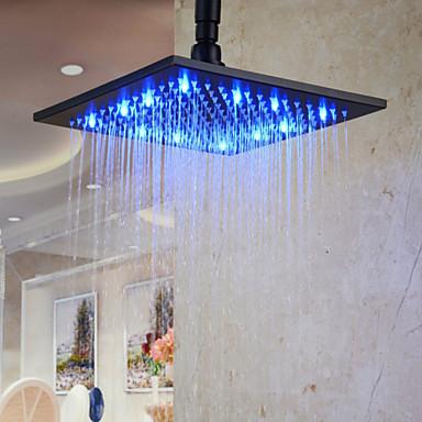 Antikk Regndusj Antikk Bronse Trekk - Regnfall Økovennlig LED, dusjhode