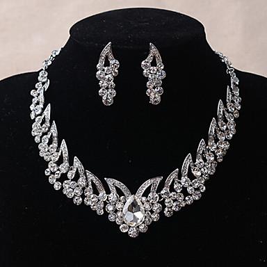 Mujer Cristal Conjunto de joyas - Incluir Plata Para Boda / Fiesta / Diario / Casual