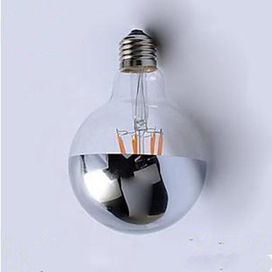 1pç 4 W 400 lm E26 / E27 Lâmpadas de Filamento de LED G95 4 Contas LED LED Integrado Decorativa Branco Quente 220 V / 1 pç