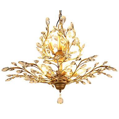 LightMyself™ 8-luz Cristais Luzes Pingente Luz Ambiente - Cristal, LED, 110-120V / 220-240V Lâmpada Não Incluída / 15-20㎡ / E12 / E14