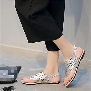 Femme A Talon Confort synthétique Chaussures Sandales Plat Bride Bout ouvert Laine Polyuréthane Semelles Arrière Légères 05560900 Eté Marche UBqYUxwrn4