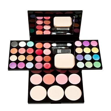 Blush+Sombra para Olhos+Batons Secos Olhos Rosto Lábios Branqueamento Gloss Colorido Longa Duração Corretivo Peles com Manchas Natural