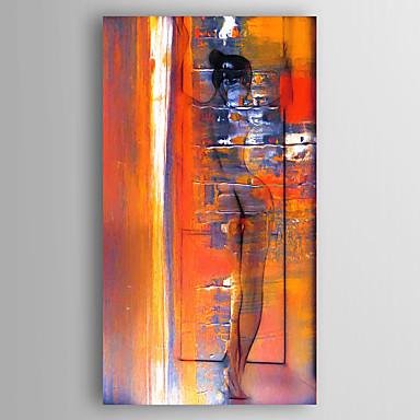 Hang malte oljemaleri Håndmalte - Landskap Moderne Inkluder indre ramme / Stretched Canvas