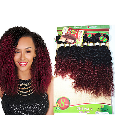 420083c83a 8 14inch 8 pcs lot brazilian jerry curly human hair weft ombre burgundy  kinky curly virgin hair brazilian virgin hair brazilian hair weave bundles