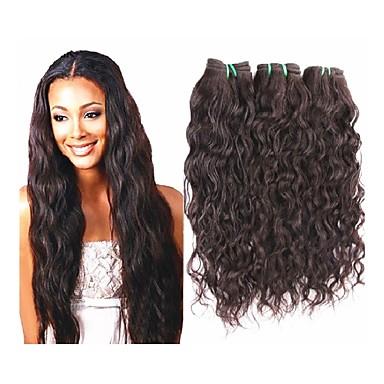 Ubehandlet / Ubehandlet hår / Remy-hår Skud / Hår Veve / Remyfletninger av menneskehår Til fargede kvinner / 100% Jomfru / ubehandlet Bølget / Naturlige bølger Brasiliansk hår 10 tommer (ca. 25cm