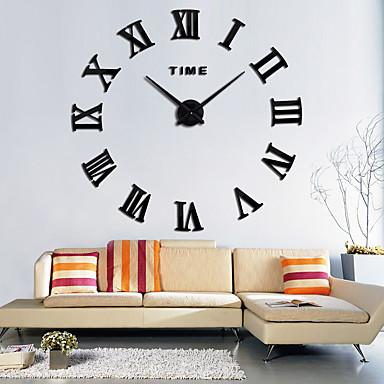 ราคาถูก ของตกแต่งบ้าน-สมัยใหม่/ร่วมสมัย สำนักงาน/ธุรกิจ ครอบครัว โรงเรียน/การสำเร็จการศึกษา เพื่อน นาฬิกาแขวน,แปลกใหม่ โลหะ 63*63 ในที่ร่ม นาฬิกา