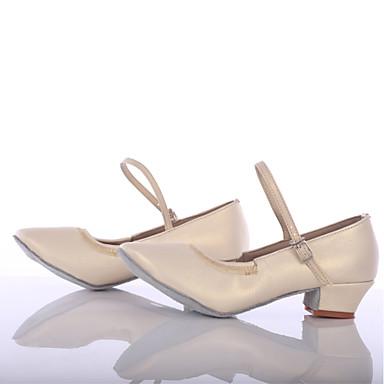 Női Modern cipők Bőrutánzat Sportcipő Személyre szabott sarok Személyre szabható Dance Shoes Fehér / Otthoni