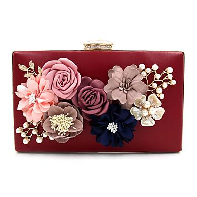abordables Sacs-Femme Sacs Polyester Sac de soirée Imitation Perle / Cristal / strass / Fleur A Fleur Or Claire / Vin / Bleu