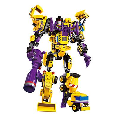 ENLIGHTEN Robô / Blocos de Construir / Brinquedo Educativo 599 pcs Militar / Guerreiro / Máquina Transformável / Criativo / Legal Chique & Moderno / Desenho / Especial Para Meninos Dom