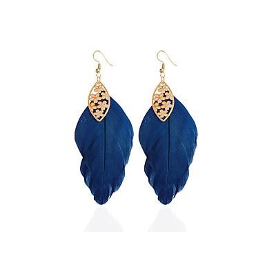 Mulheres Brincos em Argola Brinco - Estiloso Azul Escuro Para Casamento Festa Ocasião Especial / Diário / Casual