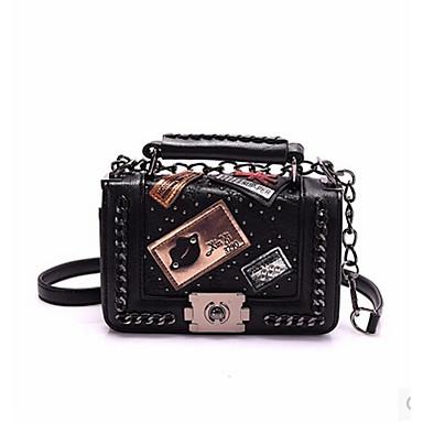 للمرأة أكياس PU حقيبة الكتف ترتر أسود
