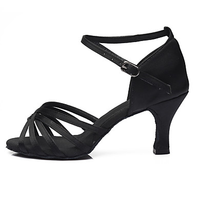 3c0f93c3ec4b Χαμηλού Κόστους Παπούτσια Χορού-Γυναικεία Παπούτσια χορού λάτιν / Παπούτσια  σάλσα Σατέν Πέδιλα / Τακούνια