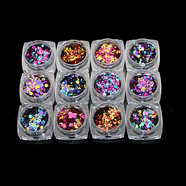Paljetter Glitters / Klassisk Daglig Nail Art Design