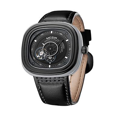 baratos Relógios Homem-Homens Relógio de Moda Quartzo Couro Preta / Marrom Analógico Amuleto Casual - Café Preto Preto / Azul