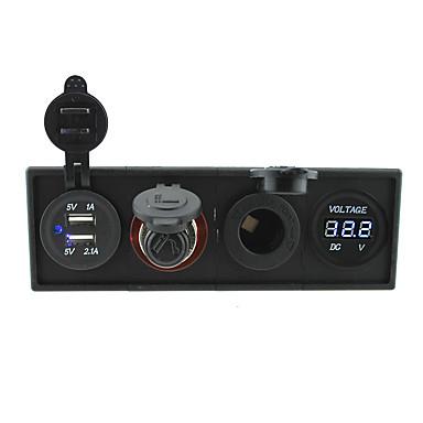 12v / 24v 3.1a usb portcigarette lettere socketpower kontakten og voltmeter med boliger holder panel for bil båt lastebil rv