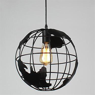 20cm vintage kreative terrestriske globus vedheng lys stue restaurant barn rom