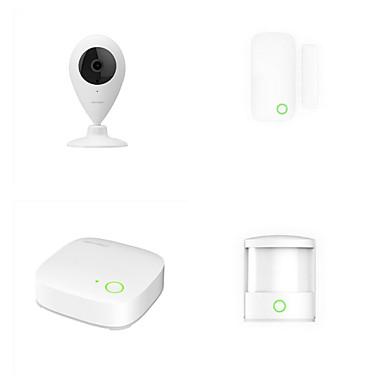 orvibo 4-i-1 smart hjem sikkerhet kit inkludert ZigBee minihub overvåking kamera bevegelsessensor og dør / vindu sensor)