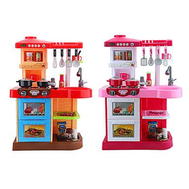 hesapli Oyuncaklar ve Oyunlar-beiens Oyuncak Mutfak Takımları Kids 'Pişirici Cihazlar Rol Yapma Oyunu LED Aydınlatma Dźwięk ABS Çocuklar için Genç Erkek Genç Kız Oyuncaklar Hediye 35 pcs