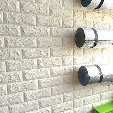 Art Deco 3D Decoração para casa Moderna Revestimento de paredes, Other Material adesivo necessário papel de parede, Cobertura para