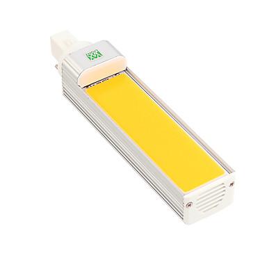 Ywxlight® 12 w g24 levou milho bulbo de luz da lâmpada holofote cob 180 graus ac85-265v horizontal plugue ac luz 85-265 v