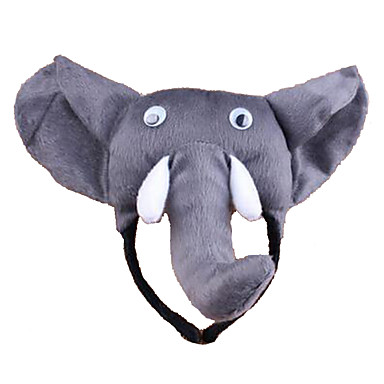 voordelige Maskers voor de feestdagen-CHENTAO Hoofddeksel Olifant Pluche Unisex Speeltjes Geschenk 1 pcs