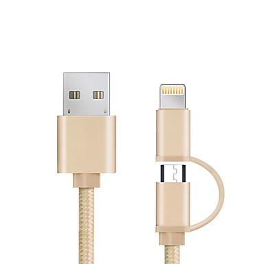 USB 2.0 Todo en 1 / Trenzado Cable iPad / Samsung / Apple para 98 cm Para Aluminio / Nailon
