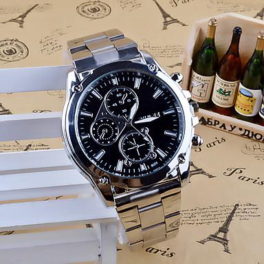 baratos Relógios Homem-Homens Relógio de Pulso Quartzo Aço Inoxidável Prata Analógico Amuleto Casual Fashion Relógio Elegante - Branco Preto