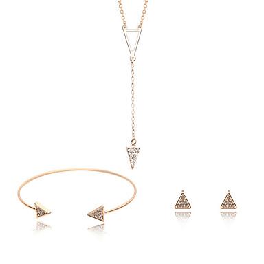 Mulheres Diamante sintético Conjunto de jóias - Zircão Natureza, Punk, Jóias inicial Incluir Dourado Para Casamento / Festa / Ocasião Especial / Bracelete