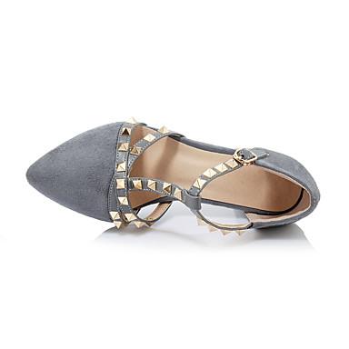 Printemps pointu Bout Chaussures Gros Hiver Chaussures Eté Similicuir Femme Pièces amp; 05624818 Talon Billes D'Orsay Automne Boucle Talons à Deux wERqZRxa