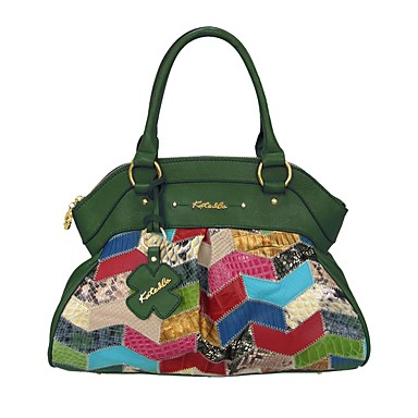 povoljno Kate&Co.®-Žene Tote torbica Kravlja koža Geometrijski oblici Žad / Emerald Green