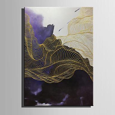 Hang malte oljemaleri Håndmalte - Abstrakt Moderne / Europeisk Stil Lerret / Valset lerret