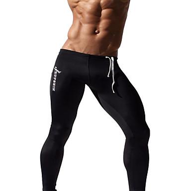 Homens Leggings de Corrida / Leggings de Ginástica - Azul Escuro, Cinzento, Azul Esportes Meia-calça / Leggings Fitness, Ginásio, Exercite-se Roupas Esportivas Secagem Rápida, Respirável, Redutor de
