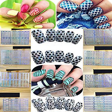 1 pcs 3D Negle Stickers Diecut Manicure Stencil Neglekunst Manikyr pedikyr Mote Daglig / 3D Nail Stickers