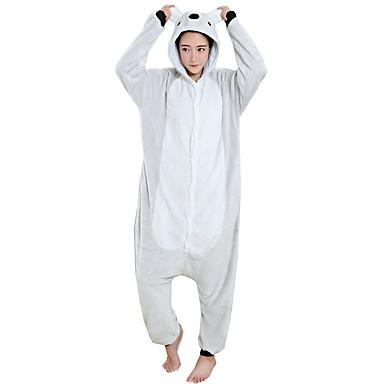 Взрослые Пижамы кигуруми Коала Цельные пижамы Фланель Флис Серый Косплей  Для Муж. и жен. 9ff15dfdb73c9