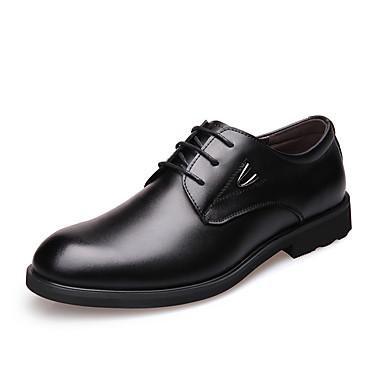 Herre sko Lær Vår / Høst Komfort / Trendy støvler Oxfords Svart / Gul / Brun / Fest / aften / Formell Sko / Lærsko