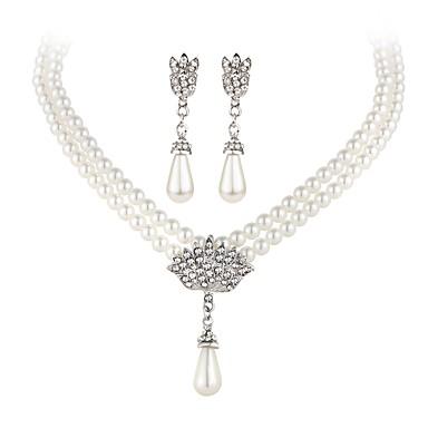 Imitert Perle Smykkesett - Perle Inkludere Hvit Til Fest / Avslappet