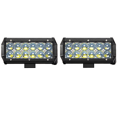 2pcs Coche Bombillas 60W LED de Alto Rendimiento / COB / LED Integrado 6000lm LED Luz de Trabajo