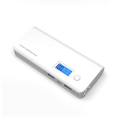 Power Bank Eksternt batteri 5V 1A / 2.1A / # Batterilader Lommelykt / Flere utganger / Støtsikker LED