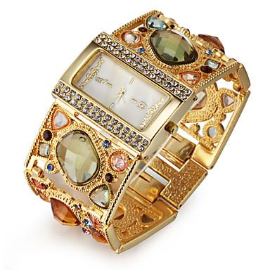 Kadın's Bilezik Saat Japonca imitasyon Pırlanta Alaşım Bant Lüks / Işıltılı / Moda Altın Rengi / Bir yıl / SSUO SR626SW