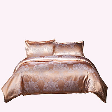 Duvet Cover Sets Luxury Poly / Cotton Jacquard 4 PieceBedding Sets / 250