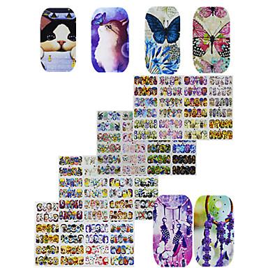 4pcs 48design Etiqueta engomada de la transferencia arte de uñas Manicura pedicura Moda Diario