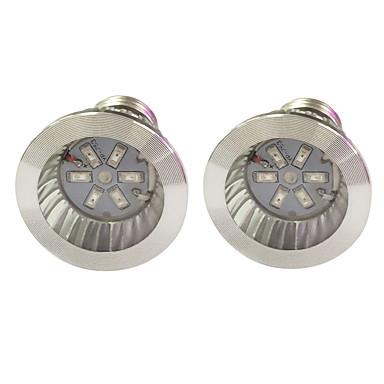 2pcs 3.5W 100lm E14 GU10 E27 Voksende lyspære 6 LED perler SMD 5730 Blå Rød 85-265V