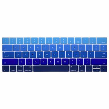 xskn® gradiente Inglês pele teclado de silicone e protetor barra de toque para 2016 mais novo MacBook Pro de 13,3 / 15,4 com retina bar