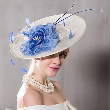 Feather Flax Silk Headpiece-Wedding Special Occasion Casual Outdoor  Fascinators Hats 1 Piece 34a784aeede