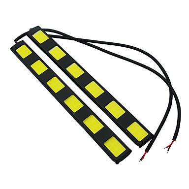 JIAWEN 2pcs Bil Elpærer 7W COB LED utvendig Lights / Baklys / Dagkjøringslys